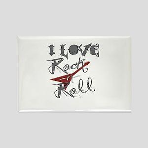 I Love Rock-n-Roll Rectangle Magnet
