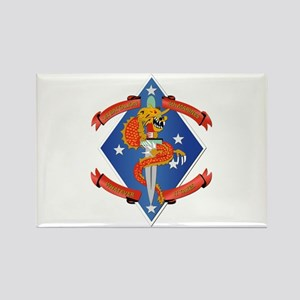 1st Bn - 4th Marines Rectangle Magnet
