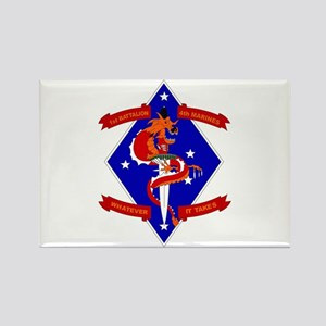 1st Battalion - 4th Marines Rectangle Magnet