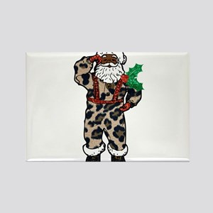 african leopard santa claus Magnets