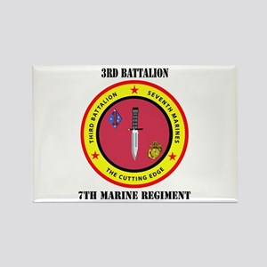 2nd Battalion 7th Marines Rectangle Magnet
