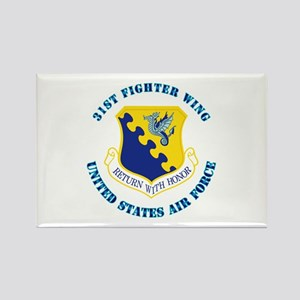 31st Fighter Wing with Text Rectangle Magnet