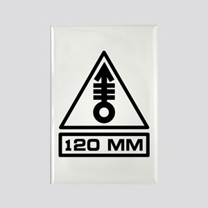 120mm Warning (B) Rectangle Magnet