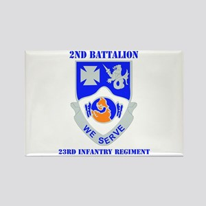 DUI - 2nd Bn - 23rd Infantry Regt with Text Rectan