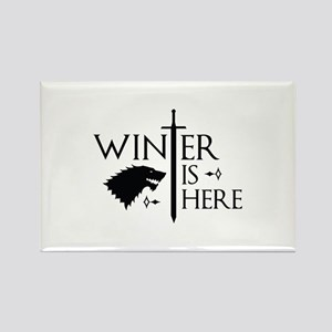 Winter Is Here Rectangle Magnet