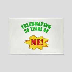 Funny Attitude 50th Birthday Rectangle Magnet