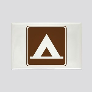 Camping Tent Sign Rectangle Magnet