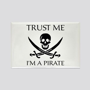 Trust Me I'm a Pirate Rectangle Magnet