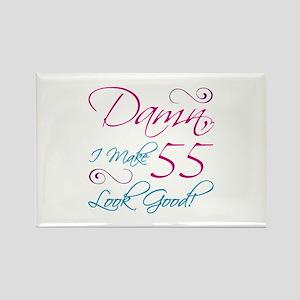 55th Birthday Humor Rectangle Magnet