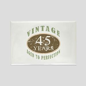 Vintage 45th Birthday Rectangle Magnet
