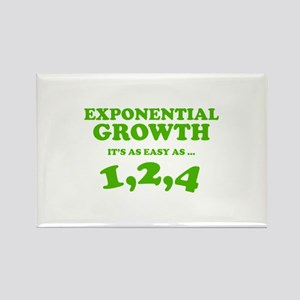 Exponential Growth Rectangle Magnet