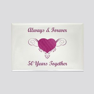 50th Anniversary Heart Rectangle Magnet