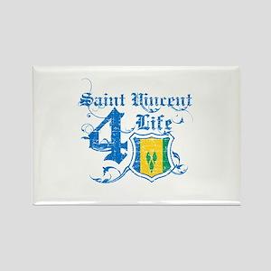 Saint Vincent for life designs Rectangle Magnet