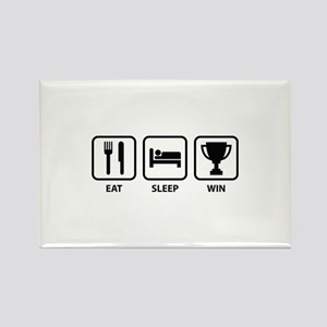 Eat Sleep Win Rectangle Magnet