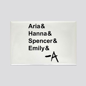 Aria & Hanna & Spencer & Emily & A Rectangle Magne