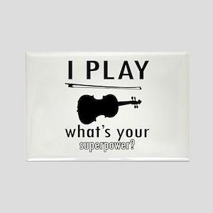 Cool Violin Designs Rectangle Magnet