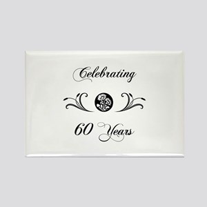 60th Anniversary (b&w) Rectangle Magnet