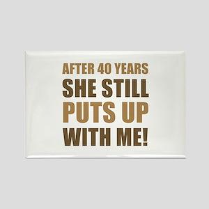 40th Anniversary Humor For Men Rectangle Magnet