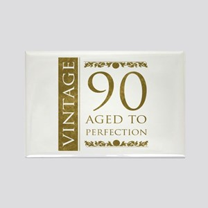 Fancy Vintage 90th Birthday Rectangle Magnet