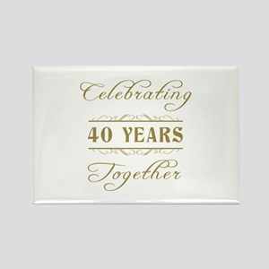 Celebrating 40 Years Together Rectangle Magnet