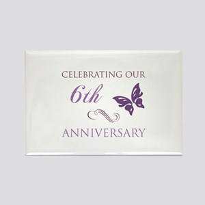 6th Wedding Aniversary (Butterfly) Rectangle Magne