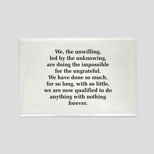 We The Unwilling Rectangle Magnet