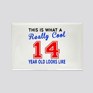 Really Cool 14 Birthday Designs Rectangle Magnet