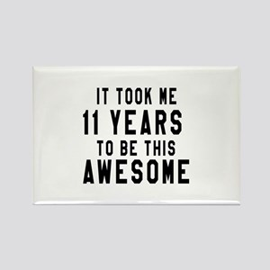 11 Years Birthday Designs Rectangle Magnet