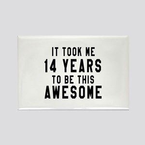 14 Years Birthday Designs Rectangle Magnet
