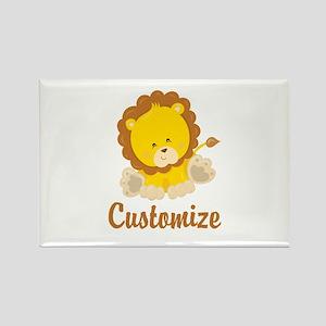 Custom Baby Lion Rectangle Magnet