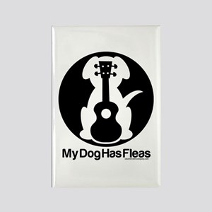 My Dog Has Fleas Ukulele Mugs Rectangle Magnet