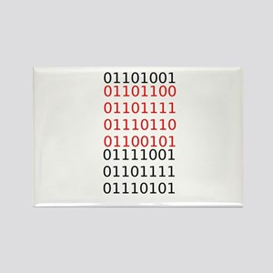 """Say """"I Love You"""" in binary code Rectangle Magnet"""