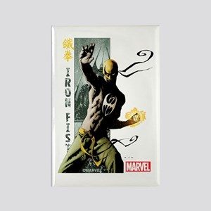 Iron Fist Vertical Cover Painting Rectangle Magnet
