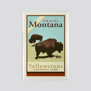Travel Montana Rectangle Magnet