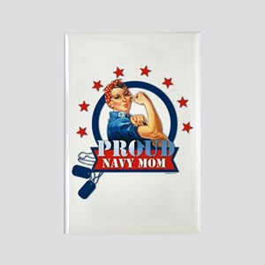 Rosie Proud Navy Mom Rectangle Magnet