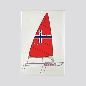 Norway Dinghy Sailing Rectangle Magnet