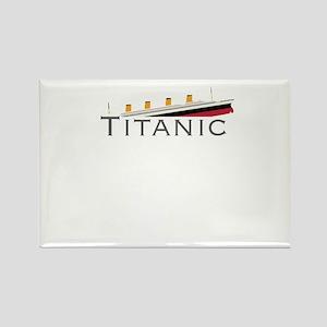 Sinking Titanic Rectangle Magnet