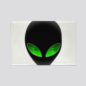 Cool Alien Earth Eye Reflection Rectangle Magnet