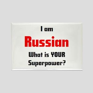 i am russian Rectangle Magnet