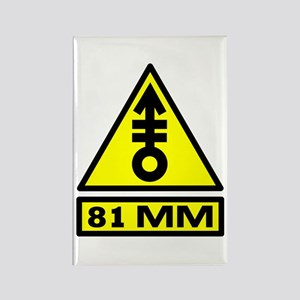 81mm warning Rectangle Magnet