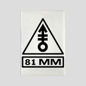 81mm Warning (B) Rectangle Magnet