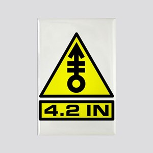 4.2in Warning Rectangle Magnet