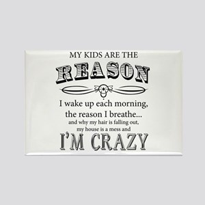 Reason I'm Crazy Magnets