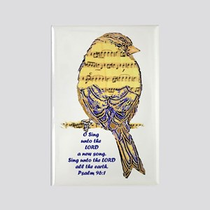 Psalm 96:1 Sing Unto The Lord Song Bird Magnets