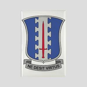 187th Infantry Regt DUI Rectangle Magnet