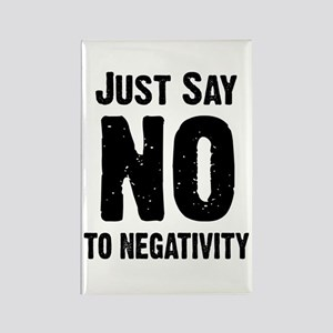 Just say no to negativity Rectangle Magnet