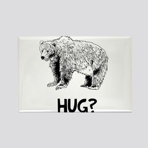 Bear Hug? Rectangle Magnet