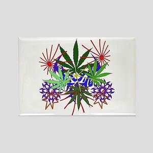 Marijuana Art Rectangle Magnet