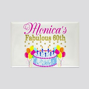 SNAZZY 60TH DIVA Rectangle Magnet