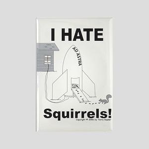Squirrel Rocket Rectangle Magnet